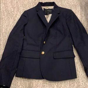 J. Crew navy blazer with gold buttons